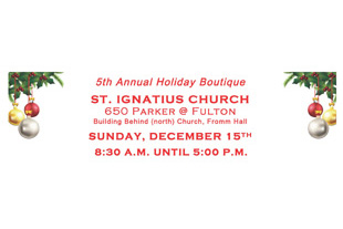 Pure Puer Tea at St. Ignatius Church 5th Annual Holiday Boutique, Dec 15, San Francisco 8:30-5