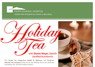 Marin General Hospital Center for Integrative Health and Wellness and Pure Puer Tea Event 12-6-12