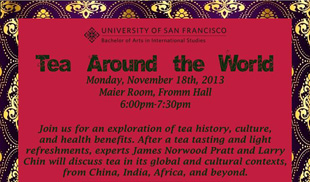 Pure Puer Tea, James Norwood Pratt at University of San Francisco tea event, Monday, Nov 18, 2013