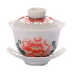 "Chan Cai Jin Hand Painted Gaiwan<br><font color=""#cc6600"">Sold Out</font>"