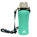 Glass Travel Buddy® GL-603 with auto-straw 500cc (neoprene bottle jacket included)