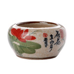 "Hand Painted Lotus Bowl Medium<br><font color=""#cc6600"">Sold Out</font>"