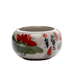 Hand Painted Lotus Bowl Small