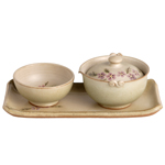 "Hand Painted Single Tea Set<br><font color=""#cc6600"">Sold Out</font>"