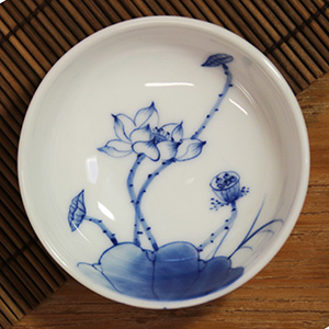 Lotus Tea Cup Hand painted