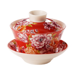 "Red Dahlia Gaiwan<br><font color=""#cc6600"">Sold Out</font>"