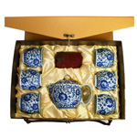 Tang Dynasty Blue Flower<br>Teapot Set