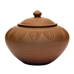 Yunnan Earth Clay Container Lotus